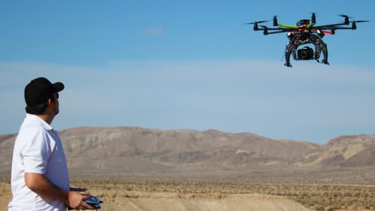A former Marine is making drones for aerial photography and selling them for various applications from farming to film making.
