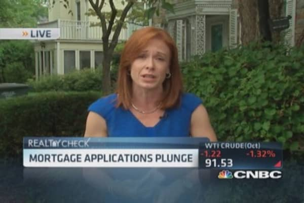 Mortgage applications plunge