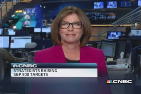 Strategists raise S&P 500 targets