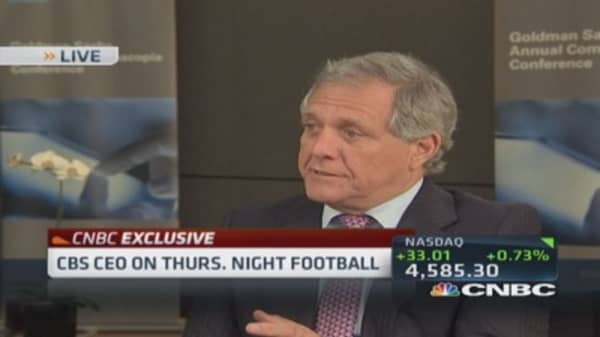 NFL basically invincible: Moonves