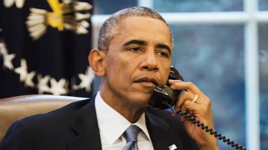 President Barack Obama called Saudi Arabia's King Abdullah on Wednesday ahead of an evening speech in which the U.S. leader plans to lay out his strategy for defeating the militant group Islamic State, the White House said.