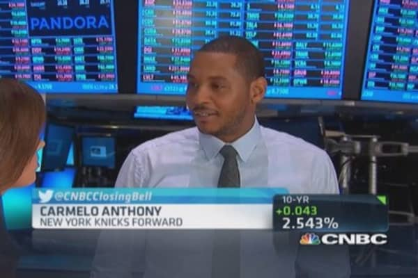 Carmelo Anthony: Have to be good example for son