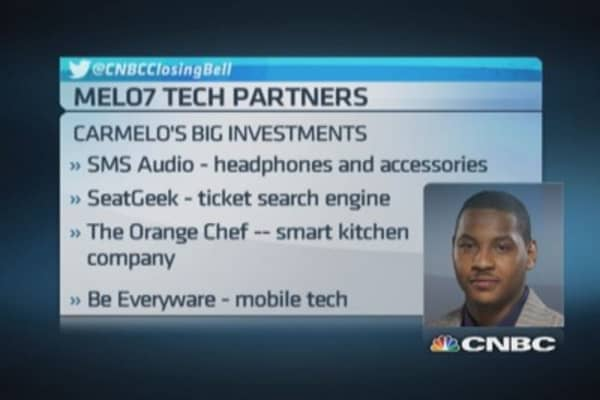'Digital athlete' Carmelo Anthony: Tech boom