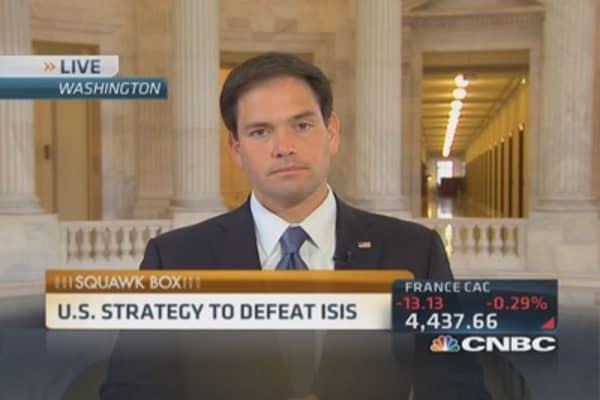 Containing ISIS threat: Sen. Rubio