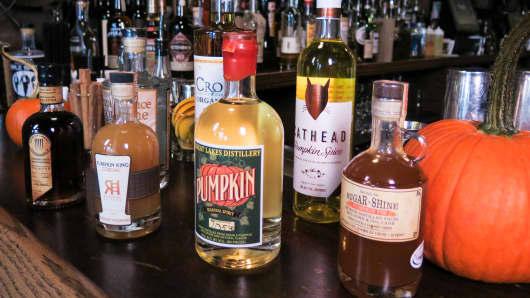 Pumkin spirits alcohol drinks beverages