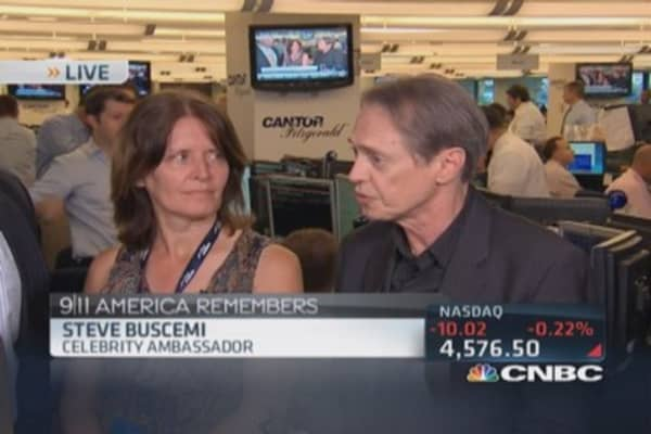 Steve Buscemi at Cantor Fitzgerald's Charity Day