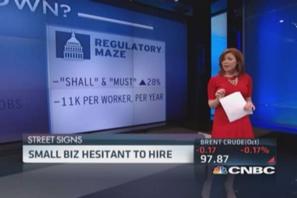 Small biz hesitant to hire