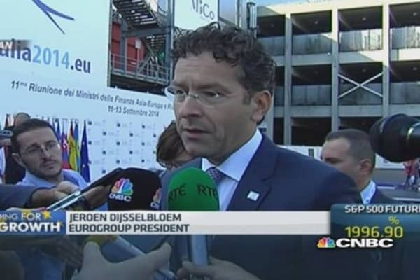 ECB actions are 'welcome': Dijsselbloem