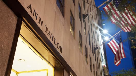 An Ann Taylor store on Fifth Avenue in New York.