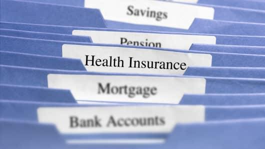 Health insurance file tab