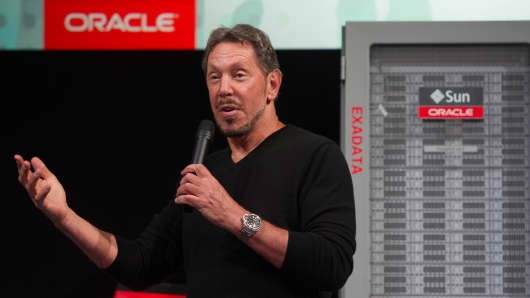 Larry Ellison, chief executive officer at Oracle Corp.