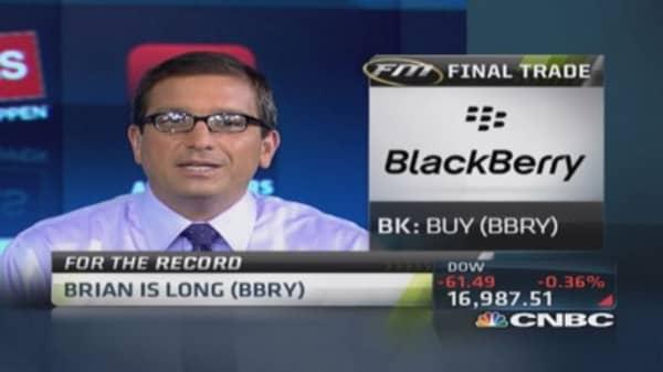 Fast Money Final Trade: TBT, GS, BBRY, WFC