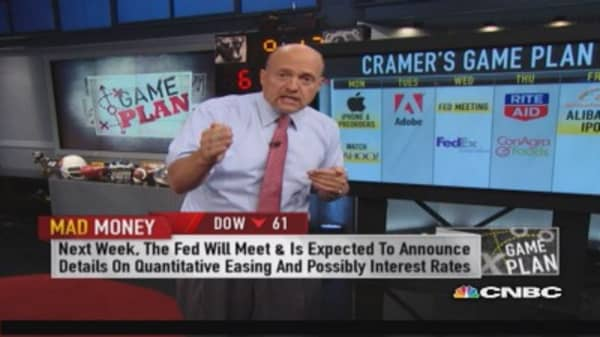 Cramer: In for some turmoil next week