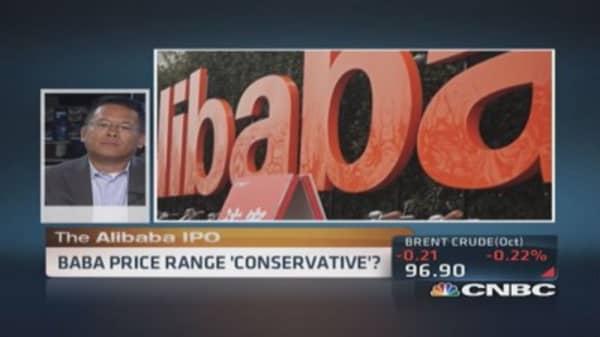 Alibaba IPO range 'conservative': Analyst