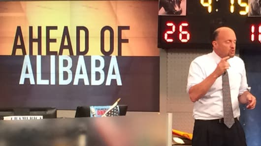 Jim Cramer speaks ahead of the Alibaba IPO on Mad Money.