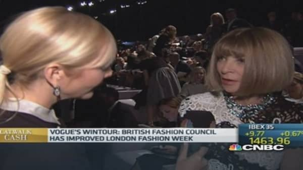 London has some of the best designers: Wintour