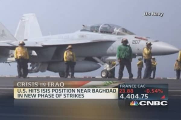 US hits ISIS position near Baghdad