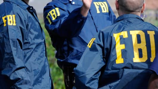 File photo: FBI agents in jackets