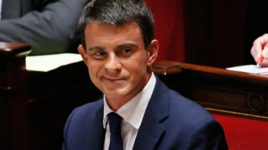 French Prime Minister Manuel Valls before his general policy speech at the National Assembly in Paris September 16, 2014.