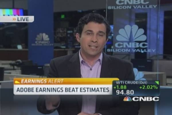 Adobe earnings beat estimates