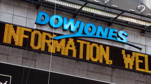 Dow Jones sign
