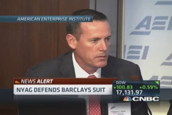 NY AG defends Barclays suit