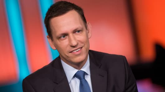 Peter Thiel, co-founder of Palantir.