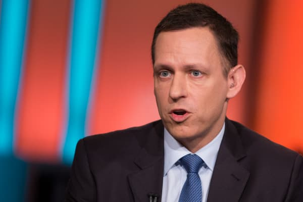 Peter Thiel, co-founder of PayPal and Palantir.