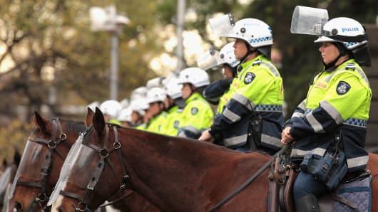 Police in Melbourne, Australia.