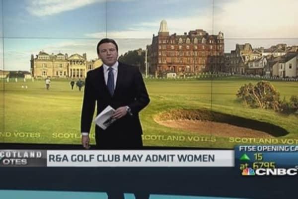 Scottish golf club set for historic vote on...women