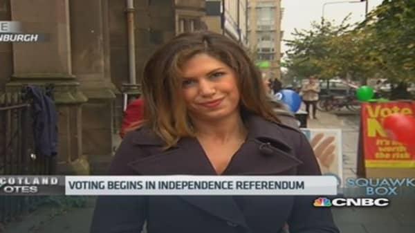 Record turnout expected in Scots independence vote