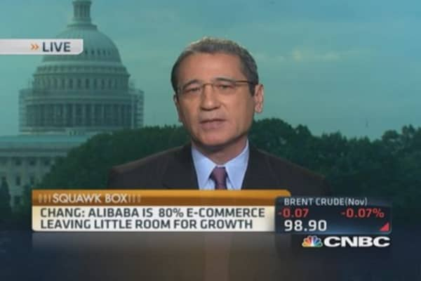 Alibaba's market share topped out: Chang