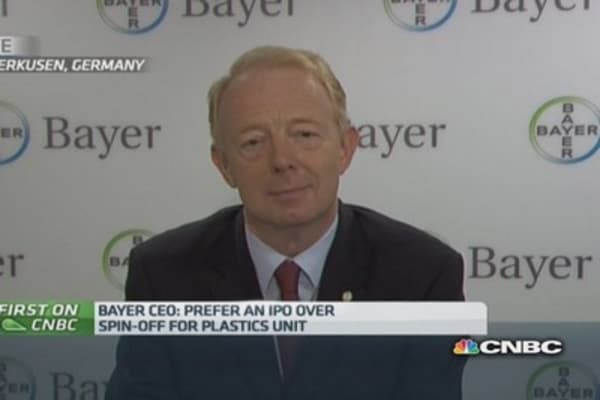 'Good time' to float plastics business: Bayer CEO