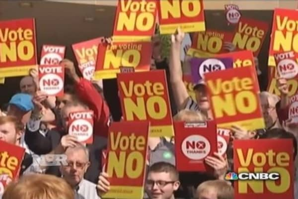 Scots historic vote on independence