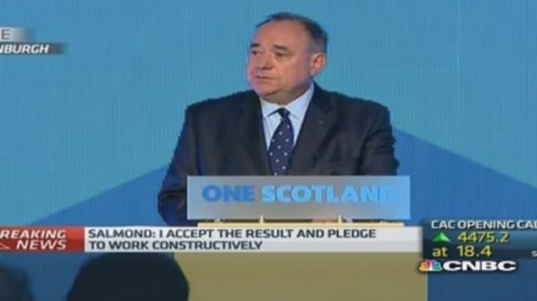 Salmond: I accept results of referendum