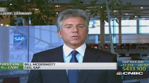 Concur 'changes the game': SAP CEO