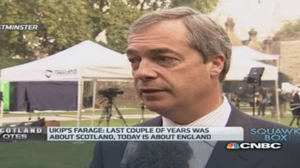 UK government Scotland campaign 'patronizing': Farage