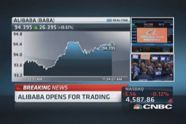 Legendary IPO Alibaba opens