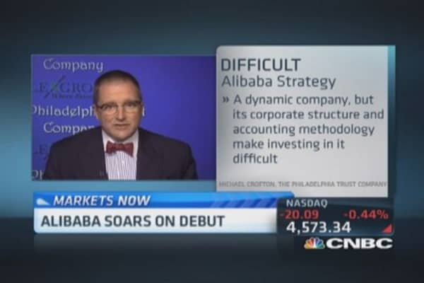 Skeptics out on Alibaba