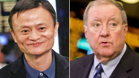 Jack Ma and Art Cashin