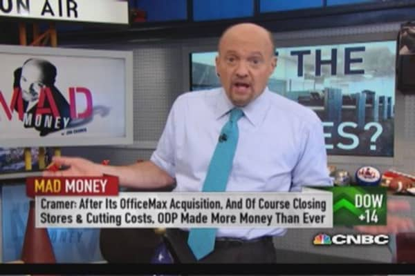 Merger between SPLS & ODP would be win: Cramer