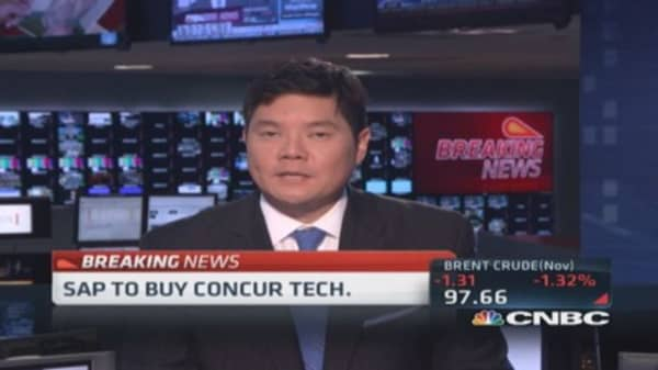 SAP to buy Concur Tech.