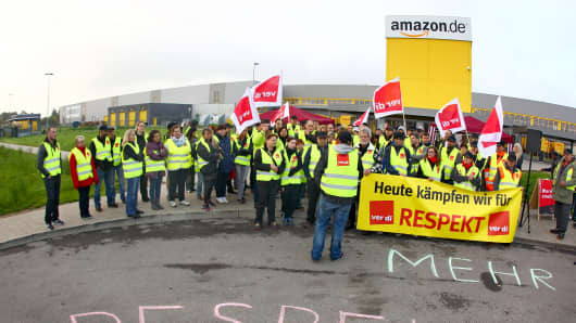 Amazon germany workers strike