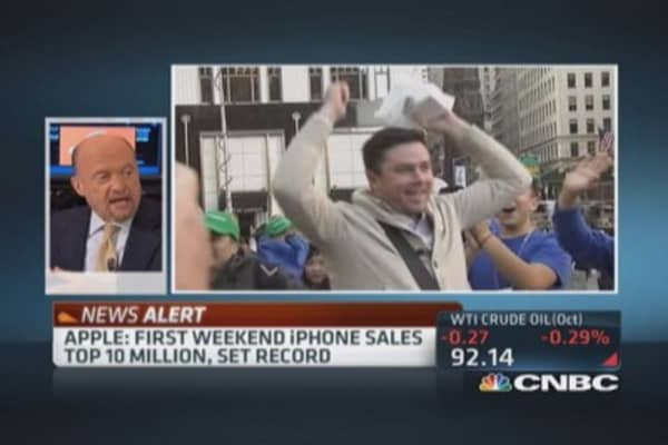 iPhone sales top 10 million first weekend