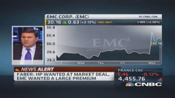 Faber: Hewlett-Packard & EMC held talks for months