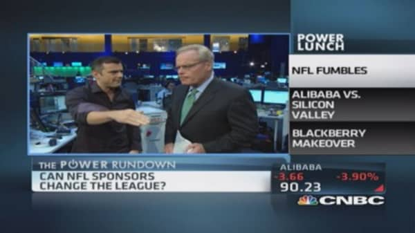 Power Rundown: NFL, Alibaba & BlackBerry