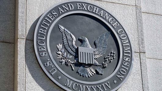 The headquarters building of the U.S. Securities and Exchange Commission (SEC) in Washington.
