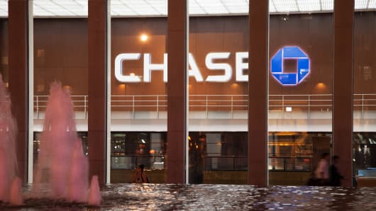Chase bank signage in New York.