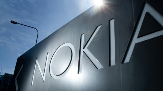 Sign outside Nokia headquarters