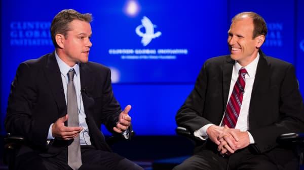 Matt Damon and Gary White of Water.org.